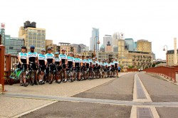 The entire Venture Expeditions Midwest Tour team in Downtown Minneapolis